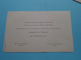 Mr. & Mme Emile Installé Et Mr. & Mme Willy Hopchet > LILIANE Et WILLY Le 22 Fév. 1947 > ANVERS ( Zie Foto's ) ! - Huwelijksaankondigingen