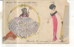 Illustrateur : Xavier Sager : Autrefois, Une Robe De 20 Mètres 10 Louis, Aujourd'hui ... (CP Vendue Dans L'état) - Sager, Xavier