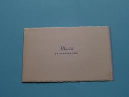 MURIEL 22 Janvier 1951 ( Thierry > Hopchet-Installé Anvers ) ( Zie Foto's ) ! - Naissance & Baptême
