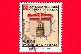 SMOM - Sovrano Militare Ordine Di Malta - Usato - 2005 (2004) - Stemma Gran Priore Fra' Michele Font -  0.60 - Sovrano Militare Ordine Di Malta
