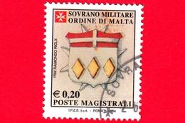 SMOM - Sovrano Militare Ordine Di Malta - Usato - 2005 (2004) - Stemma Gran Priore Fra' Raimondo Riolx -  0.20 - Sovrano Militare Ordine Di Malta