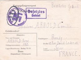 ALLEMAGNE. BONN. CORRESPONDANCE MILITAIRE. KRIEGSGEFANGENENPOST. STALAG VI G. TEXTE DU 19 JANVIER 1941 - 1939-45