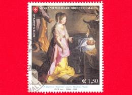 SMOM - Sovrano Militare Ordine Di Malta - Usato - 2006 - Natale - Madonna Con Il Bambino - Natività Di F. Barocci - 1.50 - Malte (Ordre De)