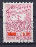 Peru 1976 Mi. 1017    8.50 S Auf 3.60 S Tabakpflanze M. Aufdruck Tobacco Plant Overprinted - Peru