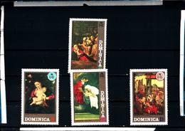 6590B)  DOMINICA 1972-QUADRI -NATALE- SERIE COMPLETA-4V. -MNH** - Dominica (1978-...)