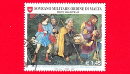 SMOM - Ordine Di Malta - Usato - 2007 - Natale - Adorazione Del Bambino Gesù - Pastori Adoranti Di Pinturicchio - 1.45 - Sovrano Militare Ordine Di Malta