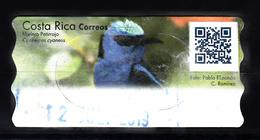 Costa Rica ATM Vogel, Bird, Blauwe Suikervogel, Mielero Patirrojo - Costa Rica