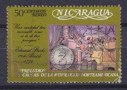Nicaragua 1973 Mi. 1713   50c. Edmund Burke Teeversendung Geschichte Der Vereiningten Staaten - Nicaragua