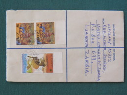 Zambia 1980 Registered Cover To England - Dance - Fairy Tales - Lion Rabbit - Zambie (1965-...)