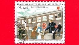 SMOM - Ordine Di Malta - Usato - 2008 - Aiuti Umanitari Dell'ordine E Centenario Del Terremoto Calabro-siculo - 1.40 - Sovrano Militare Ordine Di Malta