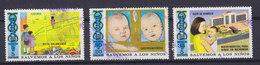 Nicaragua 1973 Mi. 1736, 1739, 1741 Gesundheitsschutz Der Kinder - Nicaragua