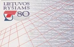 LITUANIA. CHIP. 80 Years To Lithuanian Communications. LT-LTV-C015. (083). - Lituania