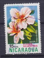 Nicaragua 1974 Mi. 1783    15c. Blume Flower Hibiscus Elatus - Nicaragua