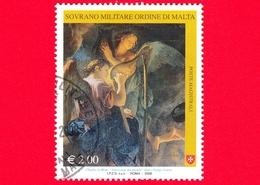 SMOM - Ordine Di Malta - Usato - 2008 - Natale - Adorazione Dei Pastori Di C. Le Brun - Angeli - 2.00 - Sovrano Militare Ordine Di Malta