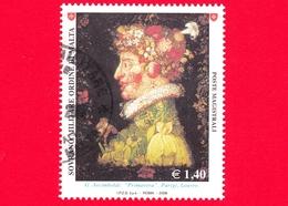 SMOM - Ordine Di Malta - Usato - 2008 - Natura E Arte - Primavera, Opera Di Giuseppe Arcimboldi - 1.40 - Malte (Ordre De)