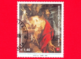 SMOM - Ordine Di Malta - Usato - 2009 - Madonna, Bambino E Santi Di Pietro Da Cortona - San Giovanni Battista - 1.40 - Sovrano Militare Ordine Di Malta