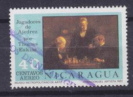 Nicaragua 1976 Mi. 1927    40c. Thomas Eakins Die Schachspieler Schach Chess - Nicaragua