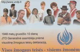 LITUANIA. CHIP. U.N.O. - All Human Rights. LT-LTV-C016. (041). - Lituania