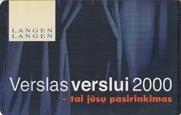LITUANIA. CHIP. Business Of Business 2000. LT-LTV-C017. (087). - Lituania