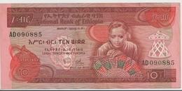 ETHIOPIA P. 32b 10 B 1976 VF - Etiopía