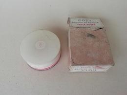 Parfumerie Coty, Boite à Poudre Ancienne De Collection, Perle Rosée, Numéro De Série 157, Contre Boite Dessinée Par René - Perfume & Beauty