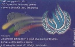 LITUANIA. CHIP. U.N.O. - All People Are Born Free. LT-LTV-C018. (074). - Lituania