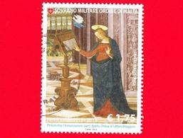 SMOM - Ordine Di Malta - Usato - 2013 - 5° Centenario Della Morte Del Pinturicchio - L'Annunciazione - Vergine Maria - 1 - Sovrano Militare Ordine Di Malta
