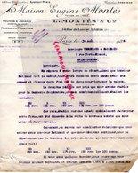 75-PARIS-MAISON EUGENE MONTES 14 RUE LANCRY-PEAUSSERIE PELLETERIE A  VERGNIAUD RATINAUD SAINT JUNIEN GANTERIE 1924 - Petits Métiers