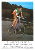 CARTE CYCLISME GIUSEPPE PETITO CHAMP: ITALIA 1979 - Ciclismo