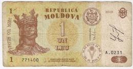 Moldova 1 Lei 2010 (3) P-8 /019B/ - Moldawien (Moldau)