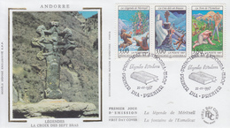 Enveloppe  FDC  1er  Jour  ANDORRE   Légendes  Andorranes    1997 - FDC
