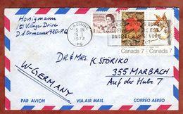 Luftpost, Herbst U.a., Lachine Nach Marbach 1972 (77830) - Briefe U. Dokumente