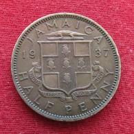 Jamaica 1/2 Penny 1937 Jamaique Half - Jamaique