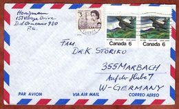 Luftpost, Emily Carr U.a., Montreal Nach Marbach 1971 (77831) - Briefe U. Dokumente