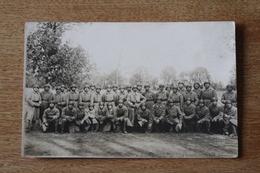 Carte Photo Regiment De Char De Combat  Compagnie Avec Fanion Du AS 361   519 RCC - Fotos