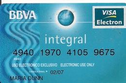 BBVA - Krediet Kaarten (vervaldatum Min. 10 Jaar)