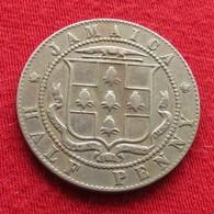 Jamaica 1/2 Penny 1918 Jamaique Half - Jamaica