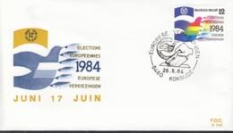 BELGIEN 2185, FDC, Europa Mitläufer-Ausgabe, 2. Direktwahl Zum EU-Parlament 1984 - Europa-CEPT