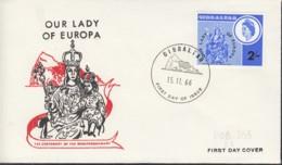 EUROPA Mitläufer-Ausgaben 1966, 1 FDC, Gibraltar 184 - Europa-CEPT