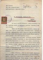 1920.YUGOSLAVIA,CROATIA,SPLIT,JOB APPLICATION LETTER FOR A FOREIGN OFFICE POST,AUSTRIAN REVENUE STAMP FOR BOSNIA,3 KRUNE - Historical Documents