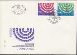 JUGOSLAWIEN 2071-2072, FDC, KSZE-Ausgabe, Internationale Kriegsveteranen-Konferenz 1984 - Europa-CEPT