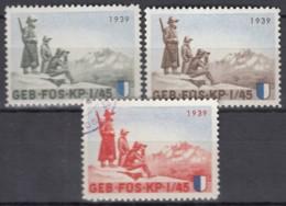 SCHWEIZ 3 Soldatenmarken: GEB.FÜS.KP. I/45, 1939, 2x Ungebraucht/gestempelt - Viñetas