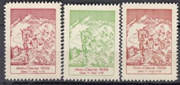 SCHWEIZ 3 Soldatenmarken: Geb.Tr.Kol. IV/6, Aktivdienst 1939, Ungebraucht - Viñetas