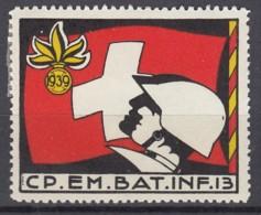 SCHWEIZ Soldatenmarke: CP.EM.BAT.INF. 13, 1939, Ungebraucht - Soldaten Briefmarken