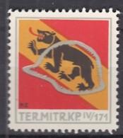 SCHWEIZ Soldatenmarke: TER.MITR.KP. IV/171, Ungebraucht - Vignettes