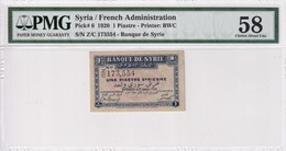 Syria 1 Piaster 1920 AUNC PMG 58 - Siria