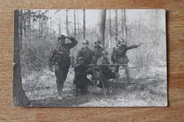 Carte Photo Regiment De Char De Combat 519 RCC    Groupe De Mitrailleurs Tenue De Combat Dont Couteau Le Vengeur - Photographs