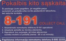 LITUANIA. CHIP. 8-191 Collect Call. LT-LTV-C020. (077). - Lituania