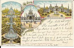 A TERVUEREN   LITHO  3 VUES   (   ECRITE  1897) - Tervuren