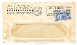 SOBRE COMERCIAL CIRCULADO GRAND CENT ANNEX NEW YORK, U.S.A. AÑO 1938. BANDELETA PARLANTE -LILHU - Estados Unidos
